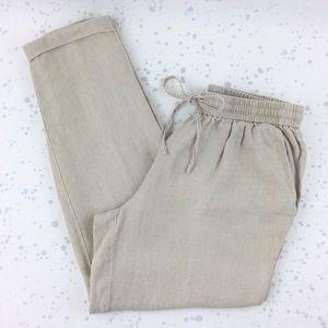 J. Crew Linen Drapey Drawstring Pants 6